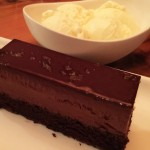 Chocolate Mousse Cake served with Homemade Ice Cream, Lure, Midtown Atlanta