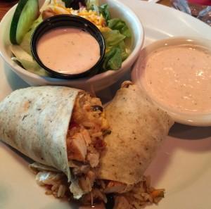 Fajita Fiesta Wrap, Wild Wing Cafe, Lawrenceville