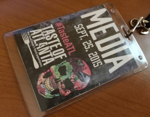 Taste of Atlanta 2015, Media Pass