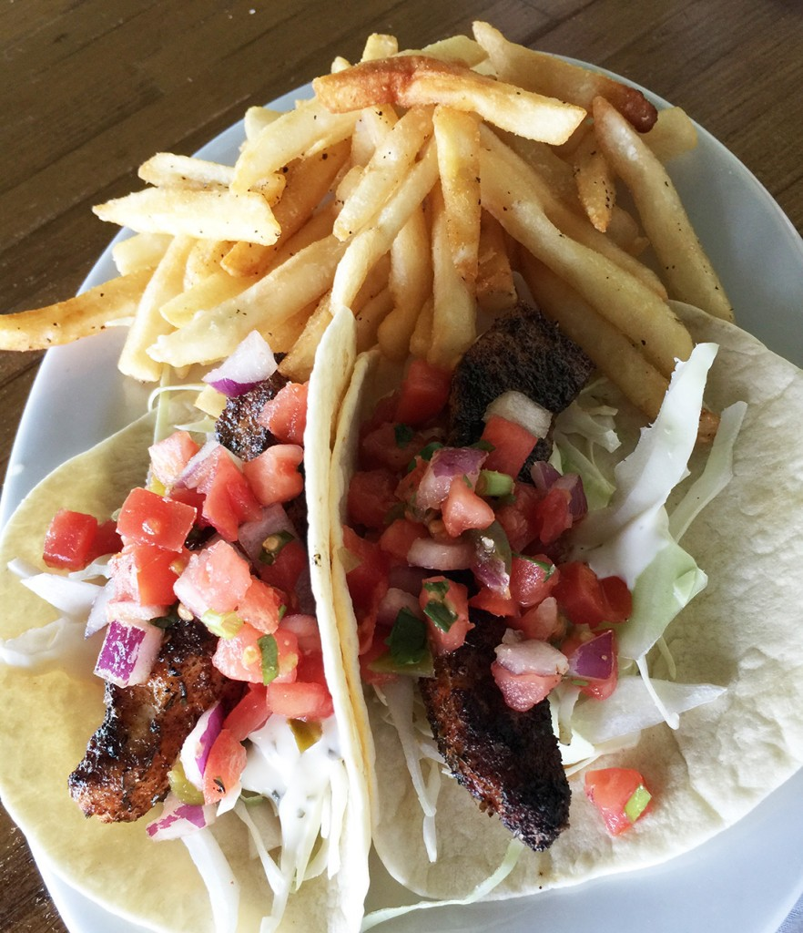 Blackened Fish Tacos, Runaway Island, Panama City Beach, Florida