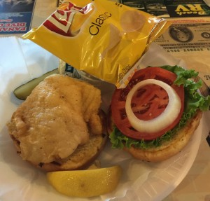 Fried Grouper Sandwich, J. Michael's Restaurant, Panama City Beach, Florida