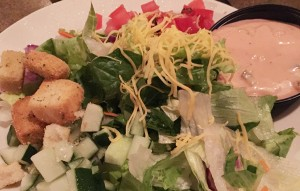 House Salad, Triple J Steak & Seafood, Panama City Beach, Florida