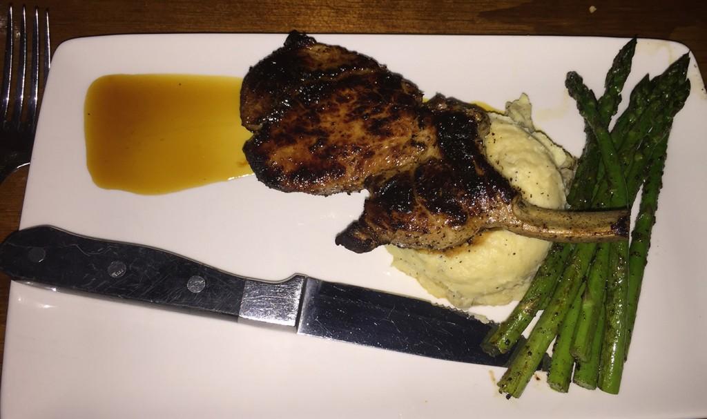 Pork Chops, Mystic Grill, Covington, Newton