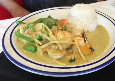 Green Curry with Shrimp, Taste of Thai, Norcross, Gwinnett