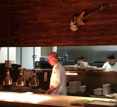 Chef Jamie Adams - be sure to ask your server to tell you the story behind the guitar!