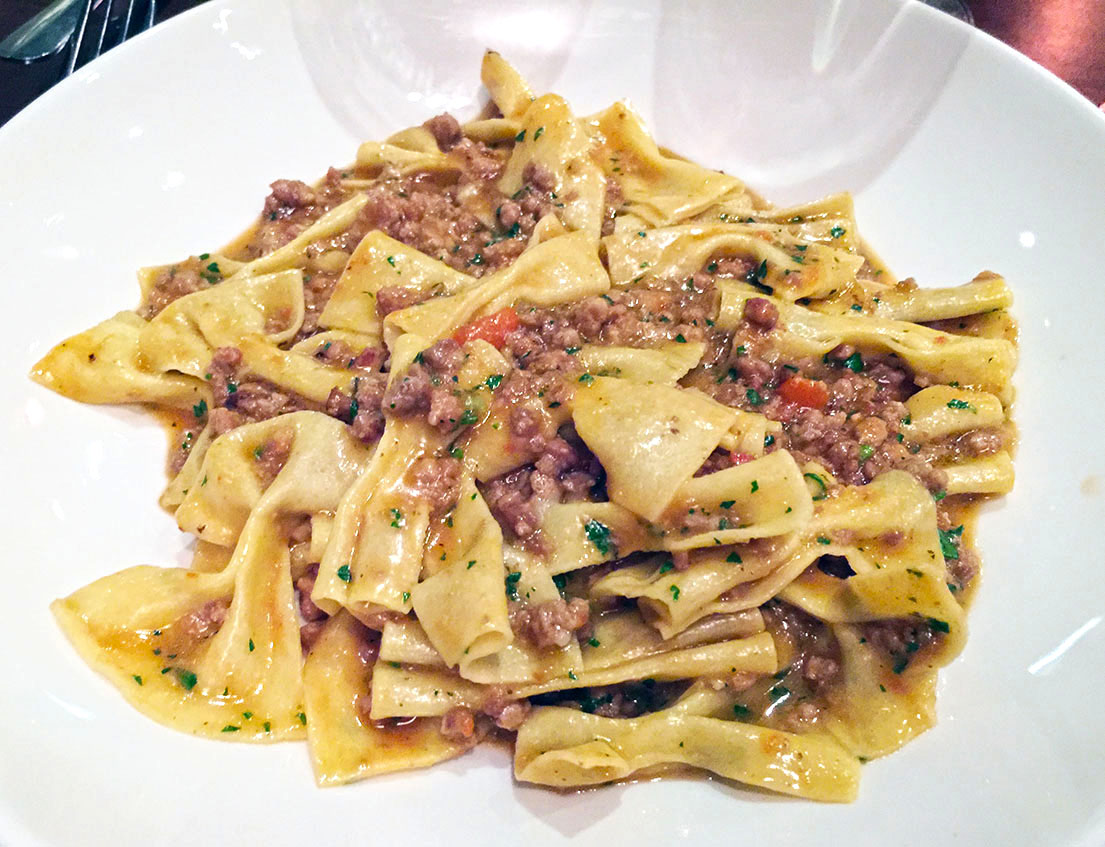 farfelle alla rubbiara, il Giallo Osteria & Bar, Sandy Springs, North Fulton