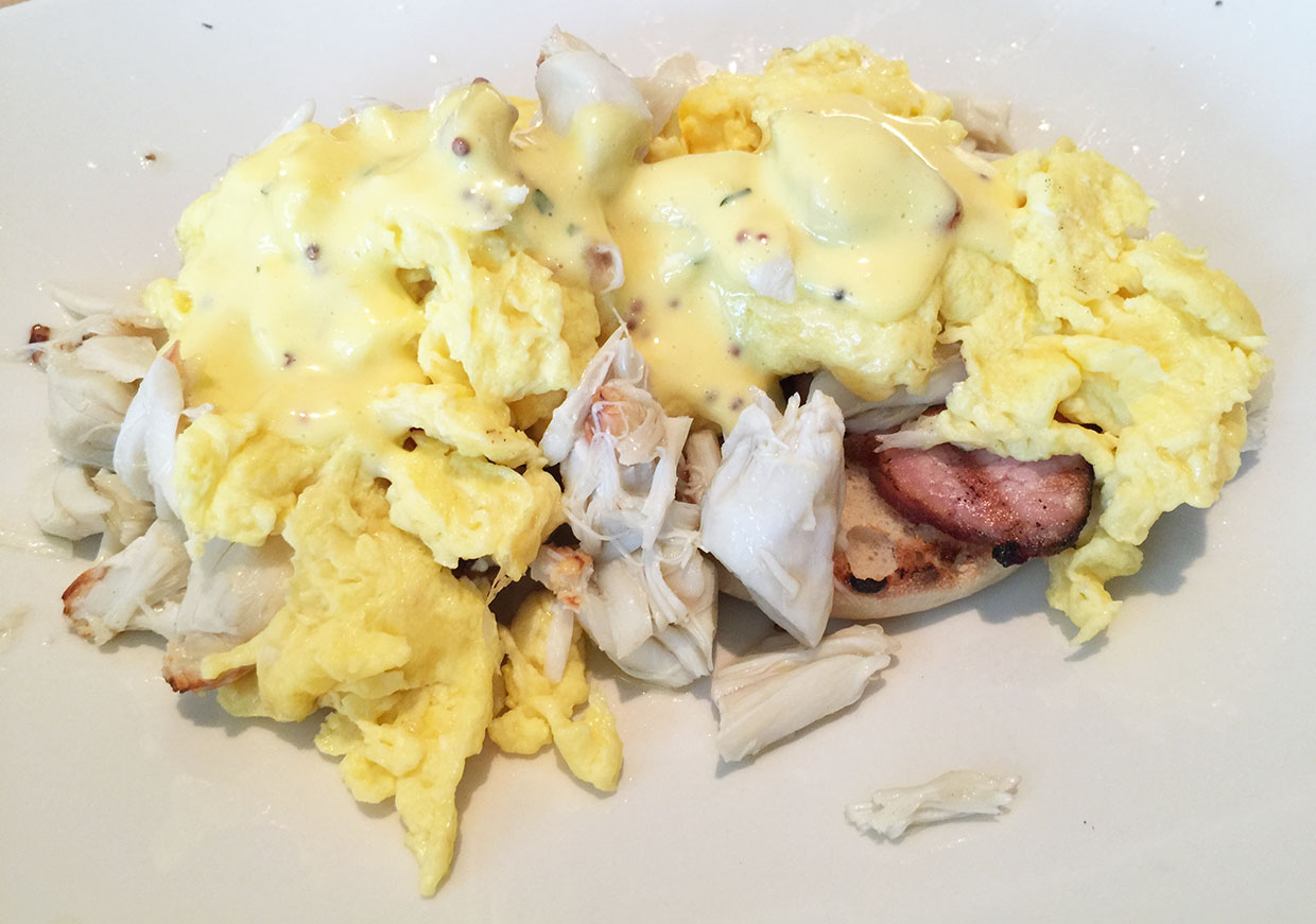 Lump Crab Benedict (scrambled), Seed Kitchen & Bar, Merchant's Walk, Marietta, East Cobb