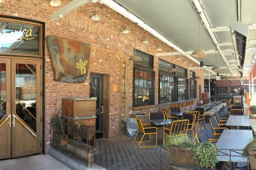 Outdoor seating, Superica, Inman Park, Atlanta, Fulton