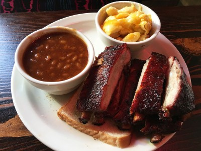 Baked Beans, Mac n Cheese, Ribs, Fox Brothers Bar-B-Q, Candler Park, Little Five Points, Atlanta, DeKalb