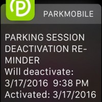 Parkmobile notification on my Apple Watch - TIMES UP!