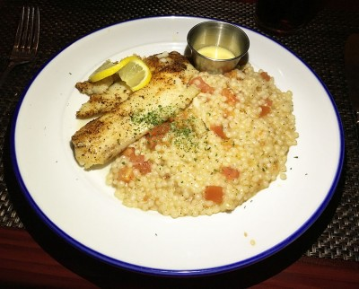 Blackened Tilapia served with Tomato Couscous, Aqua Blue, Roswell, North Fulton