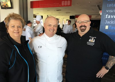 Chef Linton Hopkins with Melanie & Randy Cooper, Atlanta-Food-Critic.com
