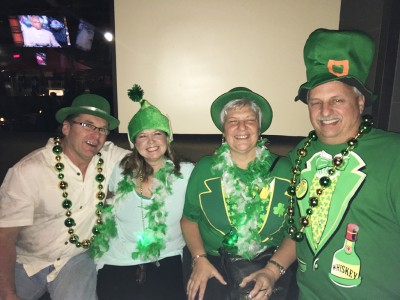 Fun with friends on St. Patrick's Day