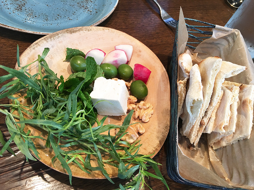 kashk badenjoon how you do it appetizer - Rumis Kitchen Menu