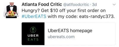Use the code: eats-randyc373